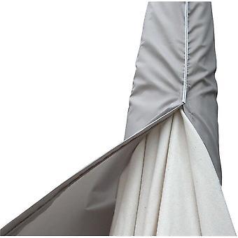 flytande parasollskydd XL 280 x 90 cm polyestergrå