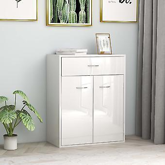 vidaXL Sideboard high gloss white 60 x 30 x 75 cm chipboard