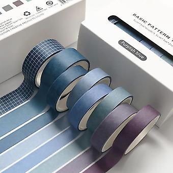 Retro Solid Basic Decoration Washi Tape Set, Diy Scrapbook Cute Sticker,