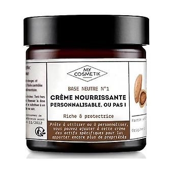 Base - Personalized organic cosmetic cream - Nourishing, rich & protective 100 ml of cream