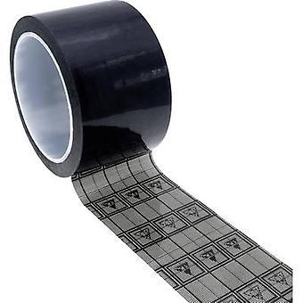 Quadrios ESD-tejp 1 st Svart, Transparent (L x W) 33 m x 12 mm