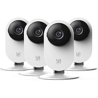 FengChun 4 Stück Überwachungskamera 1080p Innen WiFi IP Sicherheitskamera mit Bewegungserkennung