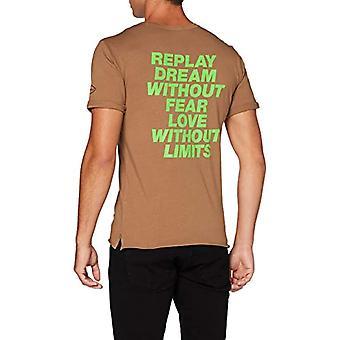 REPLAY M3164 .000.22038f T-Shirt, 24 Dark Gold, XS Men's