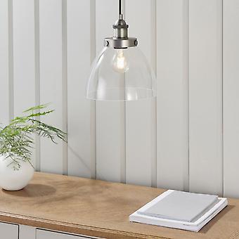 Endon Lighting Hansen Pendant Light In Brushed Silver