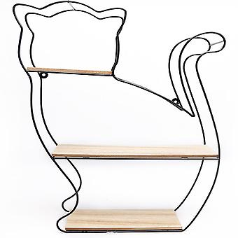 Estante de pared de gato de alambre