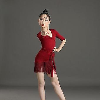 Tassel Latin, Dansjurk, Fringed Tango, Salsa Ballroom, Kostuum