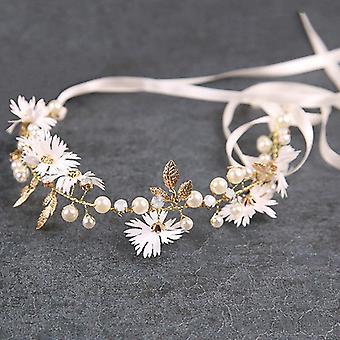 Acessórios de casamento da banda de cabelo crystal pearl bride