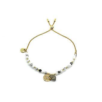 Boho betty amrum natural white & gold charm bracelet