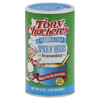 Tony Chacheres Ssnng Spice & Herb, Case of 6 X 5 Oz