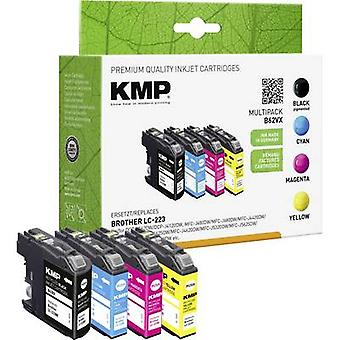 KMP Ink replaced Brother LC-223 Compatible Set Black, Cyan, Magenta, Yellow B48V 1529,4005