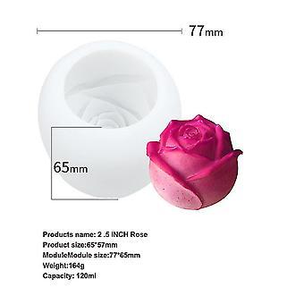 Vemix Diy käsintehty saippua, jääkuutio, jääkuutioalusta, ruusumuotti, sopii baarijuhliin (2.5inch)