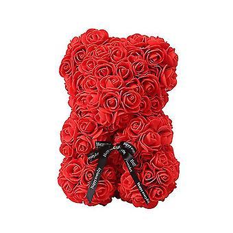 Valentine's day gift 25 cm rose bear birthday gift£¬ memory day gift teddy bear(Red)