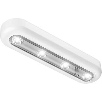 4 Led Touch Sensor Night Light Closet Cabinet Lamp(White)