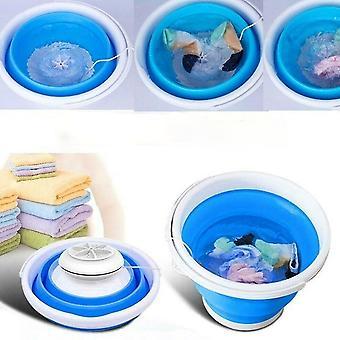 Folding Laundry Tub Basin Portable Mini Washing Machine Automatic Clothes Washing Bucket