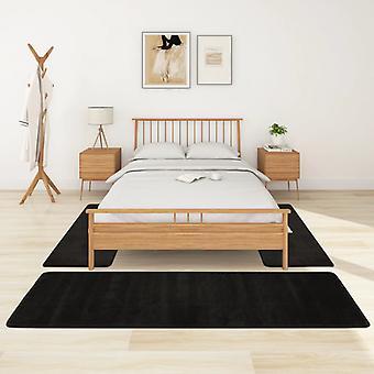 vidaXL lit à hauteflor 3 pcs noir