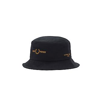 Fred Perry Twill Bucket Hat Black