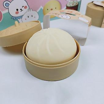 1PCS Hand Pinch Fidget Toy Squeeze Ball Anxiety Relief Pork Bun in Steamer