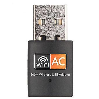 Нано двухдиапазонный беспроводной USB-адаптер 600M 2,4 ГГц / 5 ГГц мини-сетевой ключ