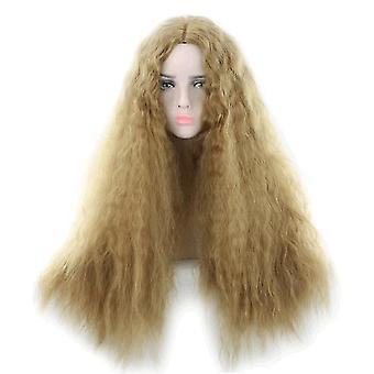 Frauen Explosive Long Curly Perücke (Blond)