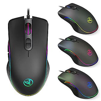 Gaming Mouse 6400dpi Ergonomic Hand Grips RGB Backlit Optical Wired Gaming Mouse