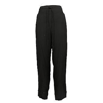 AnyBody Kvinders Bukser Hyggelig Strik Luxe Bukser med buet åg Sort A392851