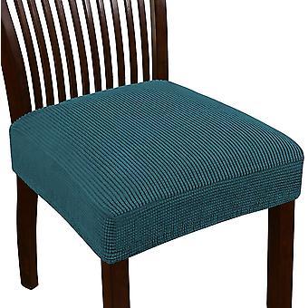 Venytä jacquard tuoli istuimen istuimen kannet ruokasalin tuoli istuin slipcovers irrotettava pestävä tuoli istuin tyynyn slipcovers, tumma sinivihreä