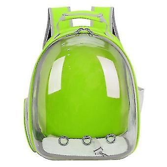 Cat Carrier Rucsac, Space Capsule Knapsack Pet Travel Bag impermeabil respirabil (verde)