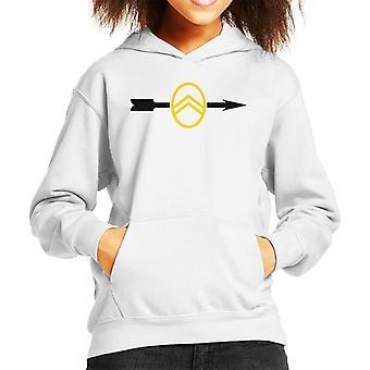 Citroen 1922 Badge Black Arrow Logo Kid's Hooded Sweatshirt