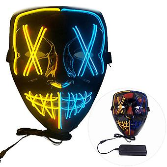 """Purge Movie Halloween lyser op """"Sting"""" LED Glow Mask Costume Rave EDC Party"""