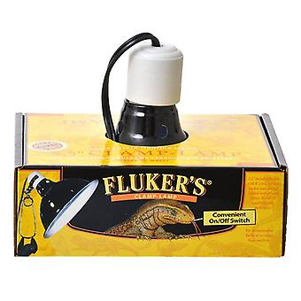 """Flukers مصباح المشبك مع التبديل - 75 واط (5.5 """"القطر)"""