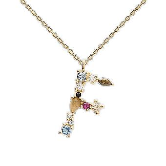 925 Sterling Silver English Letter Necklace F/ladies Necklace With Crystal Pendant