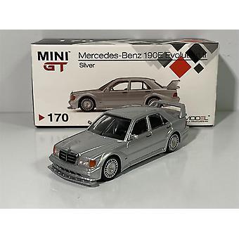 Mercedes 190E 2.5 17 EVO II Silver LHD 1:64 MiniGT MGT00170L