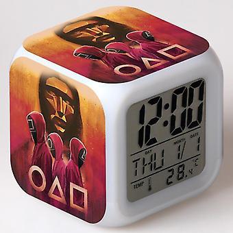 Squid Game Colorful Multifunctional LED Children Alarm Clock Squid Game NO59