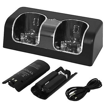 Wii Blue Four- Seater Charger-black