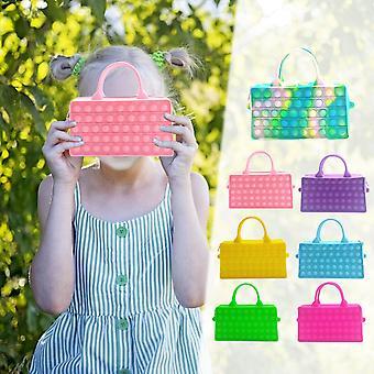 Sensory Toys Handbag Relieve Stress Bags Anxiety Fidget Toy Push Bubble Purses