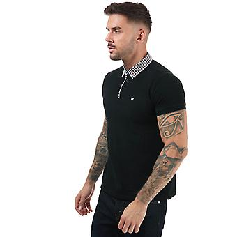 Mäns helgförbrytare Nicks Check Collar Polo Shirt i svart