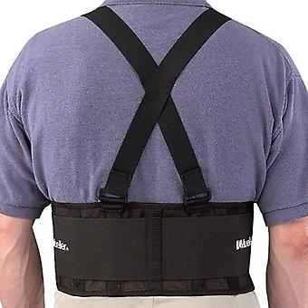 Mueller Back Support with Suspenders - Black