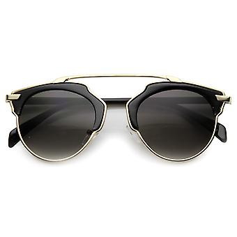 Unisex Horn Rimmed Sunglasses With UV400 Protected Composite Lens