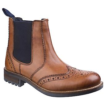 Cotswold Mens Cirencester Chelsea Brogue Tan