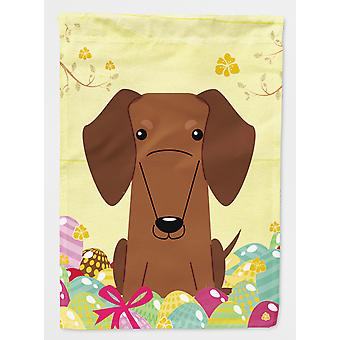 Easter Eggs Dachshund Red Brown Flag Canvas House Size