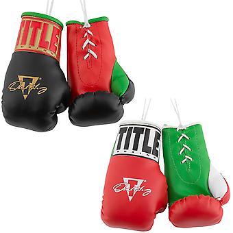 "Tittel boksing 5 ""autentisk detaljert"" Oscar de la Hoya ""mini Lace up hansker"