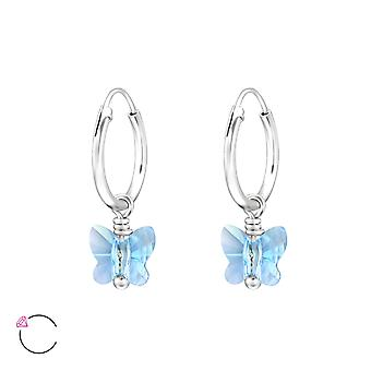 Schmetterling Crystal aus Swarovski® - 925 Sterling Silber Ohrringe - W29470x