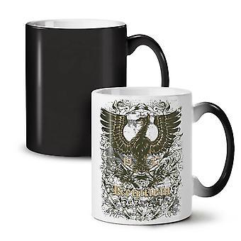 Old Bird Cool Vintage NEW Black Colour Changing Tea Coffee Ceramic Mug 11 oz | Wellcoda