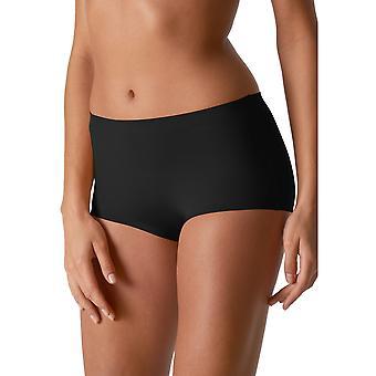 Mey 79003-3 Women's Illusion Black Solid Colour Knicker Shorties Boyshort