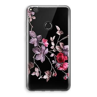 Huawei Ascend P8 Lite (2017) Transparant fall (Soft) - vackra blommor
