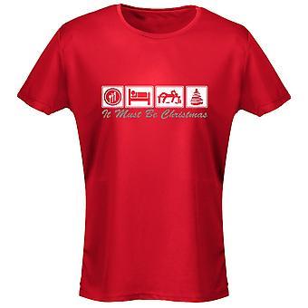 Äta sova dricka jul Xmas Womens T-Shirt 8 färger (8-20) genom swagwear