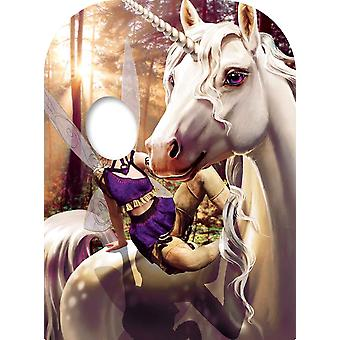 Unicorn and Fairy Fantasy Child Size Stand-in Cardboard Cutout / Standee