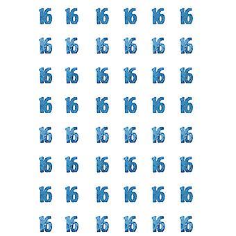 Bursdag glitter blå - 16nde bursdag prisme hengende dekorasjon