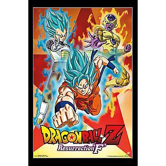 Dragon Ball Z resurrección F - impresión del cartel de grupo