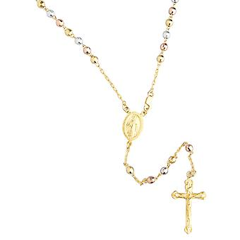 925 sterling hopea Rosary Rosary nyt kaulakoru - 4mm helmi